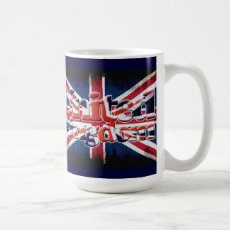 Bandera patriótica de Gran Bretaña, Union Jack, Taza Básica Blanca