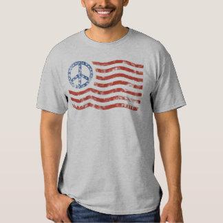 Bandera patriótica de la paz de la camiseta (niños remeras
