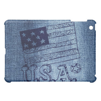 Bandera patriótica de los E.E.U.U. en azul del dri