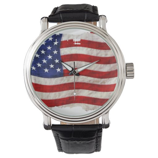 Bandera patriótica de los E.E.U.U. Relojes De Pulsera