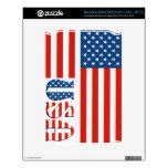 Bandera patriótica de los E.E.U.U. Calcomanías Para El NOOK