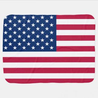 Bandera patriótica de los Estados Unidos de Améric Mantita Para Bebé