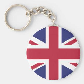 Bandera patriótica de Reino Unido Llavero Redondo Tipo Pin
