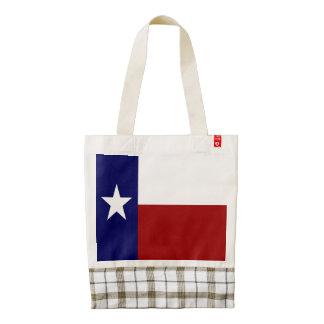 Bandera patriótica de Tejas Bolsa Tote Zazzle HEART