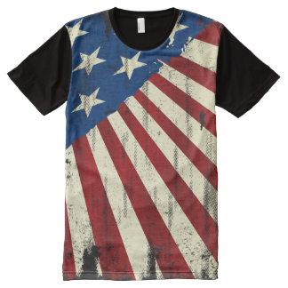 Bandera patriótica del Grunge de América