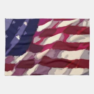 Bandera patriótica Dishtowl Toallas De Cocina