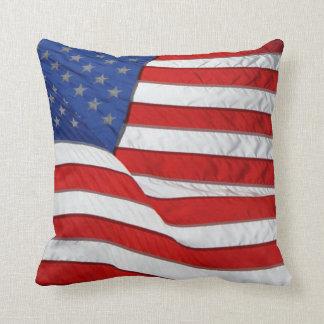 Bandera patriótica Estados Unidos de los E.E.U.U. Almohada
