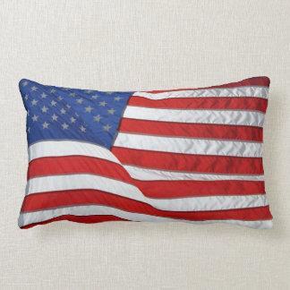 Bandera patriótica Estados Unidos de los E.E.U.U. Cojin