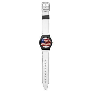 Bandera patriótica hecha andrajos de los E.E.U.U., Relojes De Mano