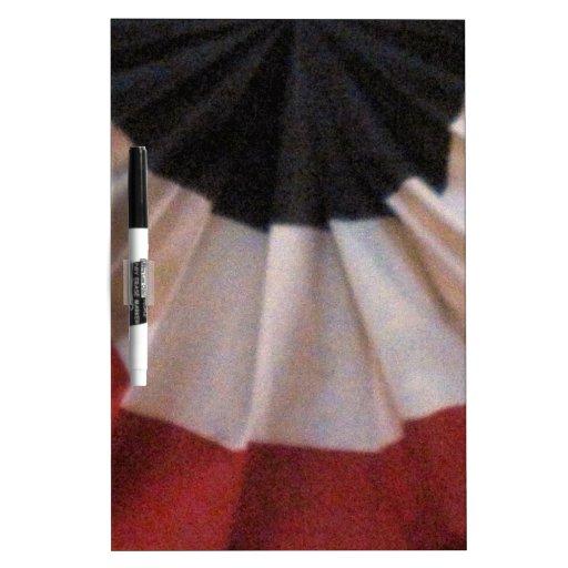 Bandera patriótica pizarras blancas de calidad