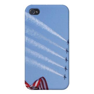 Bandera patriótica y aviones de los E E U U iPhone 4/4S Fundas