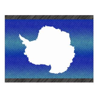 Bandera pelada moderna de Antartican Postal