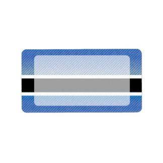 Bandera pelada moderna de Batswana Etiquetas De Dirección