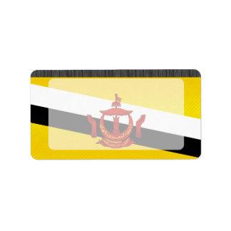 Bandera pelada moderna de Brunean Etiquetas De Dirección