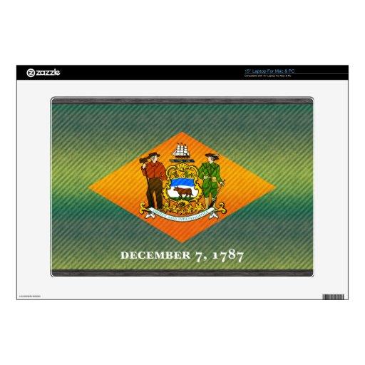 Bandera pelada moderna de Delawarean Calcomanía Para 38,1cm Portátil