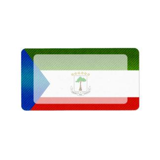 Bandera pelada moderna de Equatoguinean Etiquetas De Dirección