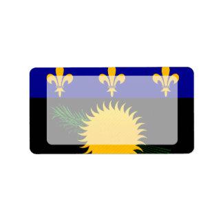 Bandera pelada moderna de Guadeloupean Etiqueta De Dirección
