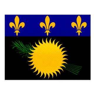 Bandera pelada moderna de Guadeloupean Tarjeta Postal