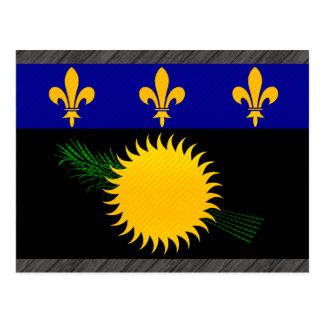 Bandera pelada moderna de Guadeloupean Postales