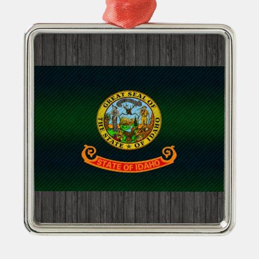 Bandera pelada moderna de Idahoan Adornos De Navidad