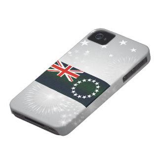 Bandera pelada moderna de la isla de cocinero iPhone 4 Case-Mate funda