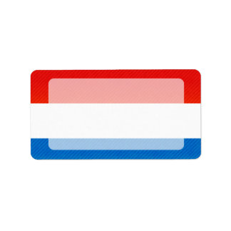 Bandera pelada moderna de luxemburgués etiquetas de dirección