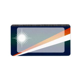 Bandera pelada moderna de Marshallese Etiqueta De Dirección