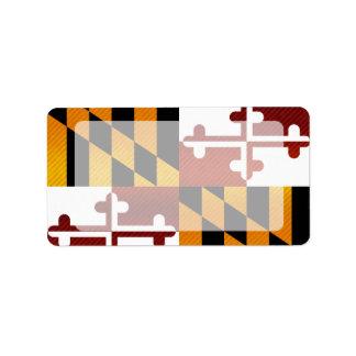 Bandera pelada moderna de Marylander Etiquetas De Dirección