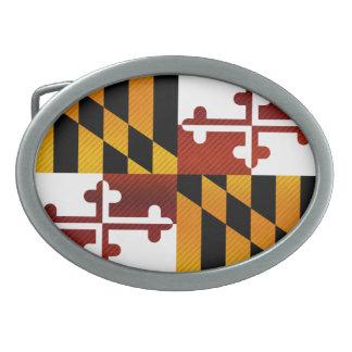 Bandera pelada moderna de Marylander Hebilla Cinturon Oval