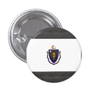 Bandera pelada moderna de Massachusettsan Pins