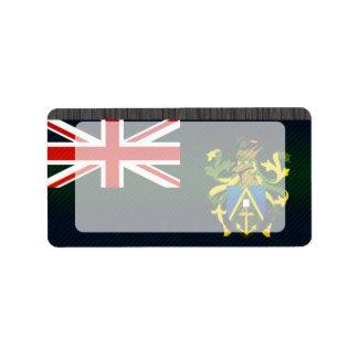 Bandera pelada moderna de Pitcairnian Etiquetas De Dirección