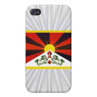 Bandera pelada moderna de Tibetese iPhone 4 Protector