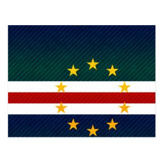 Bandera pelada moderna de Verdian del cabo Tarjeta Postal