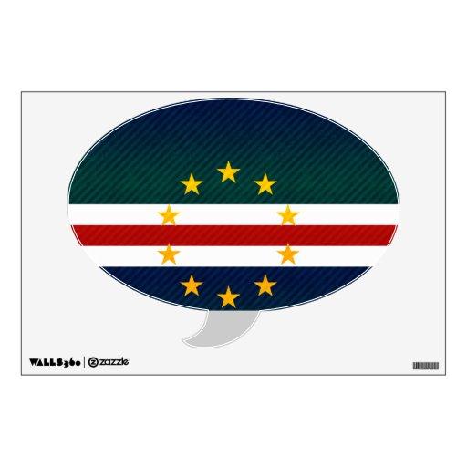 Bandera pelada moderna de Verdian del cabo Vinilo Adhesivo