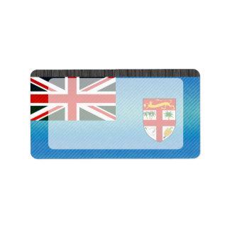 Bandera pelada moderna del Fijian Etiquetas De Dirección