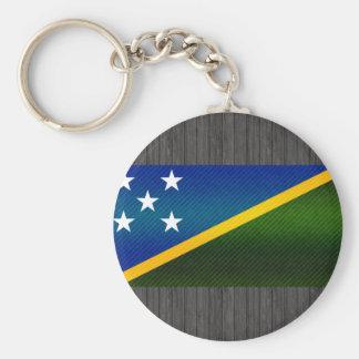 Bandera pelada moderna del isleño de Solomon Llavero Personalizado