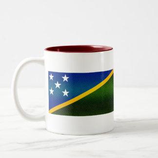 Bandera pelada moderna del isleño de Solomon Tazas De Café