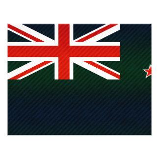 Bandera pelada moderna del kiwi tarjeton