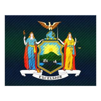 Bandera pelada moderna del neoyorquino tarjetón