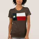 Bandera pelada moderna del Texan Camiseta
