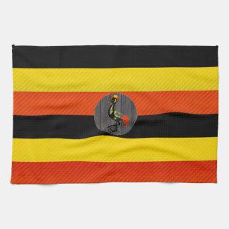 Bandera pelada moderna del Ugandan Toalla De Mano