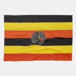 Bandera pelada moderna del Ugandan Toallas De Mano