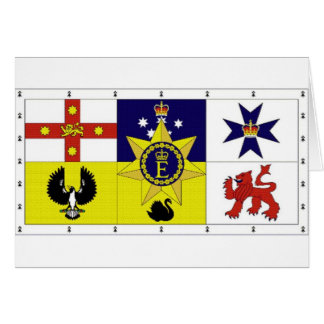 Bandera personal de Australia del HM la reina Tarjeta De Felicitación