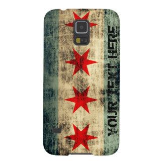 Bandera personalizada de Chicago del Grunge del Funda De Galaxy S5