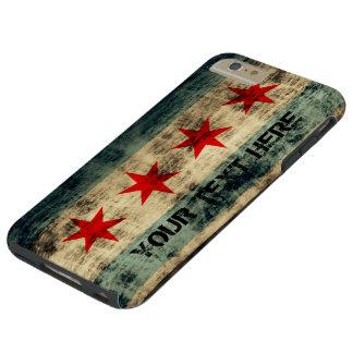Bandera personalizada de Chicago del Grunge del Funda Para iPhone 6 Plus Tough