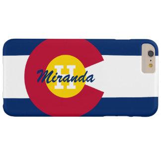 Bandera personalizada de Colorado Funda De iPhone 6 Plus Barely There