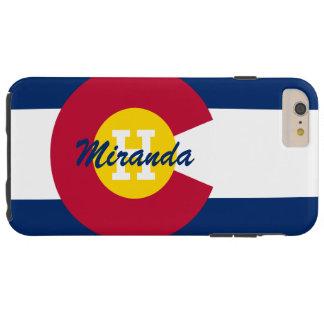 Bandera personalizada de Colorado Funda De iPhone 6 Plus Tough