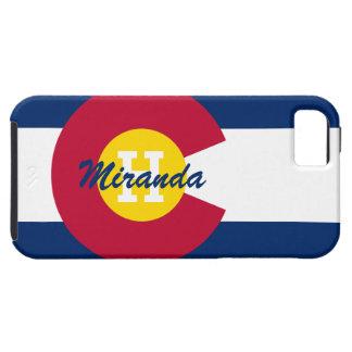 Bandera personalizada de Colorado iPhone 5 Case-Mate Coberturas