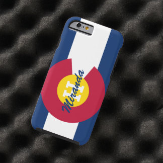 Bandera personalizada de Colorado Funda De iPhone 6 Tough