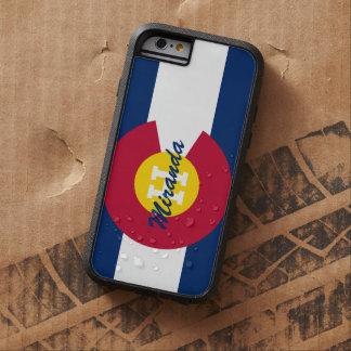 Bandera personalizada de Colorado Funda De iPhone 6 Tough Xtreme